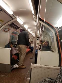 The very small subway cars. Clockwork Orange indeed!